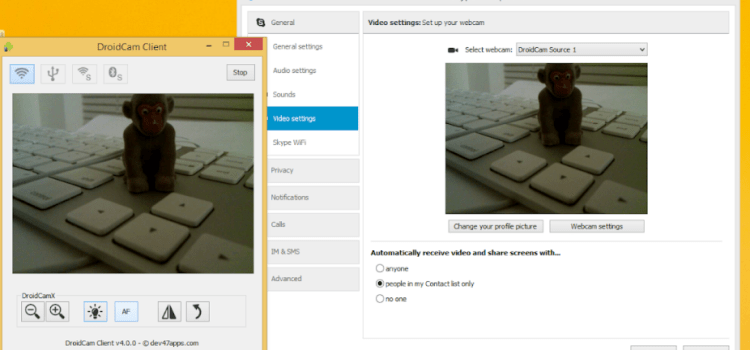 UTILIZAR CELULAR COMO WEBCAM EN PC, Skype, Youtube, etc
