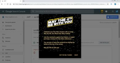 star wars en google search console