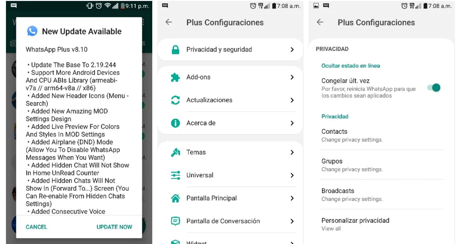 ultima version de whatsapp plus noviembre 2019 v8.10