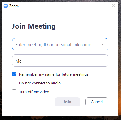 unirse a reunion en zoom