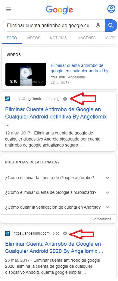 paginas amp como verlas en los buscadores de google