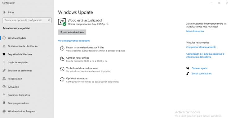 Solución a error de Windows update