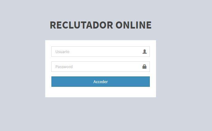 Sistema web Reclutador