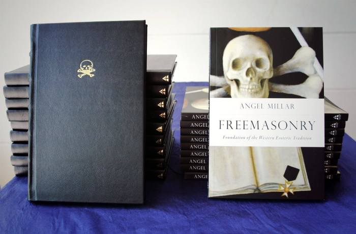 Freemasonry: Foundation of the Western Esoteric Tradition, limited leather-bound edition (left) and soft cover (right).