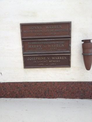 Harry Warren's grave at Pierce Bros. Westwood Village Memorial Park