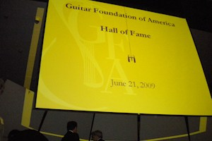 Angelo Gilardino nella Hall of Fame del Guitar Foundation of America