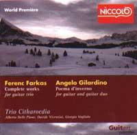 Discografia: Farkas-Gilardino Complete works for guitar trio – Trio Citharoedia