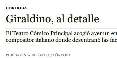Articolo su ABC Córdoba