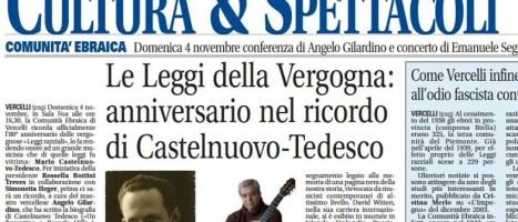 NotiziaOggi di Vercelli del 28 Ottobre 2018