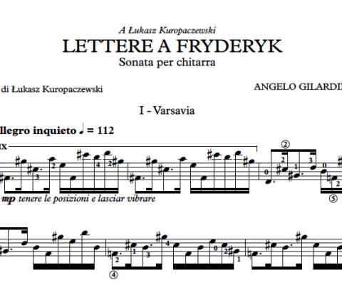 Lettere a Fryderyk