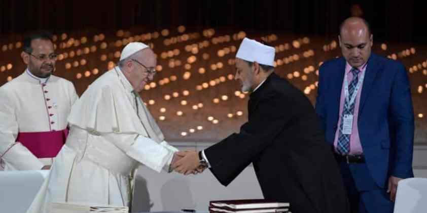 Papa Francisco: Documento sobre la fraternidad humana por la paz y la convivencia común – Abu Dabi, 4 de febrero de 2019