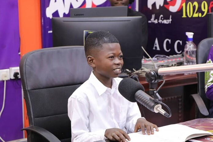 Young and gifted sports presenter granted a lifetime scholarship by Dr Kwaku Oteng