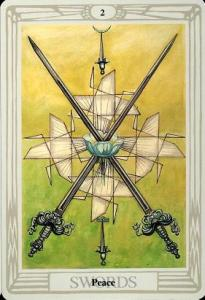 2 of Swords - Thoth Tarot
