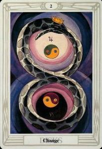 2 of Pentacles - Thoth Tarot