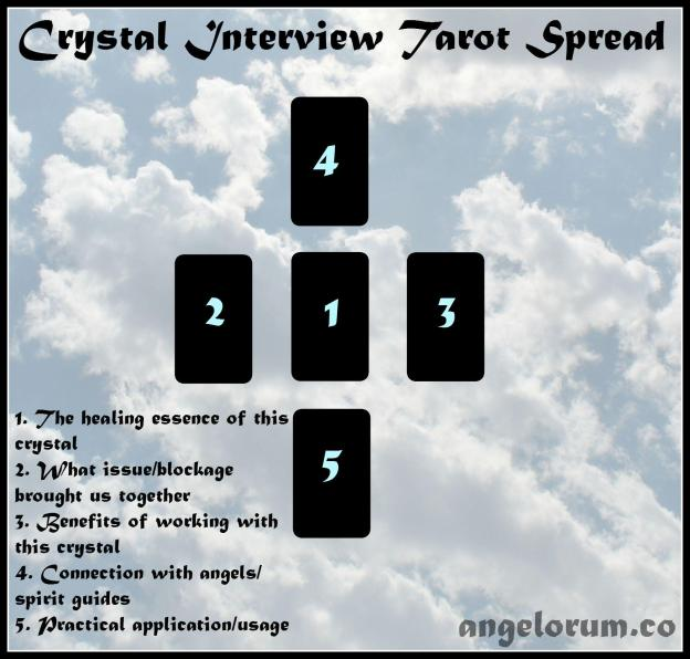 Crystal Interview Tarot Spread