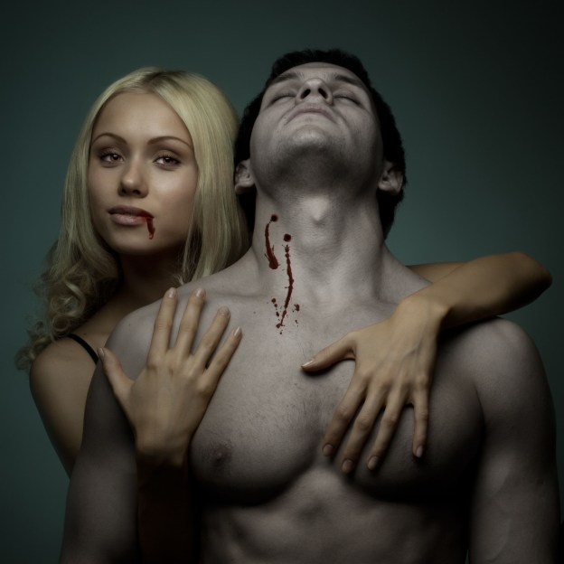 vampire woman and her victim