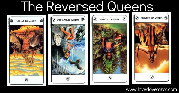 The Reversed Queens - Tarot of the Ages