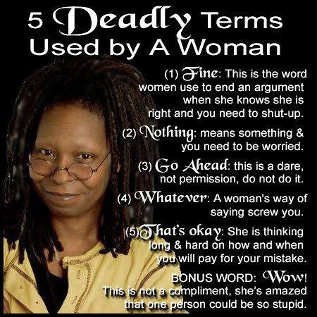 deadly words used by women