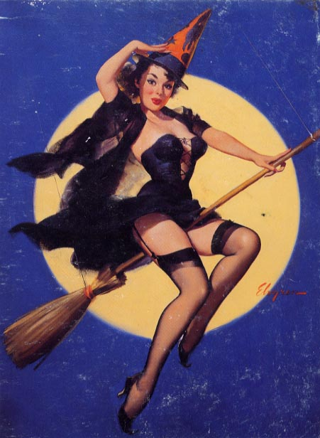 Sexy vintage witch pic