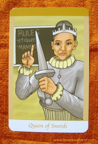 The Queen of Swords from the Simply Deep tarot