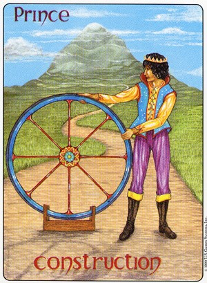 tarot card image - Prince of Pentacles