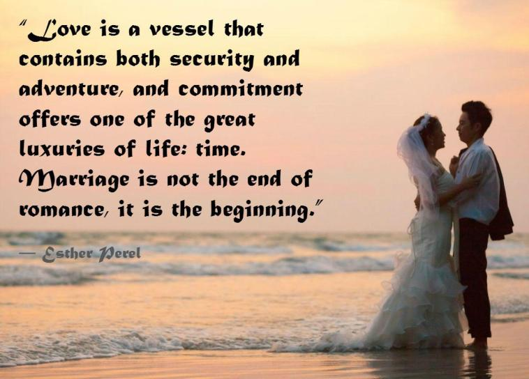 wedding couple on beach - commitment quotes