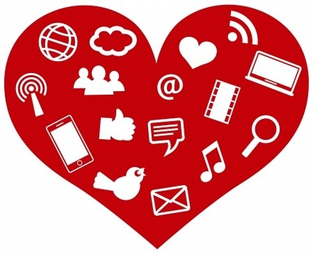 image of social media heart icon