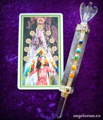 9 of Pentacles from the Gendron Tarot