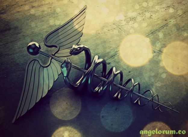 caduceus - symbol of Archangel Raphael