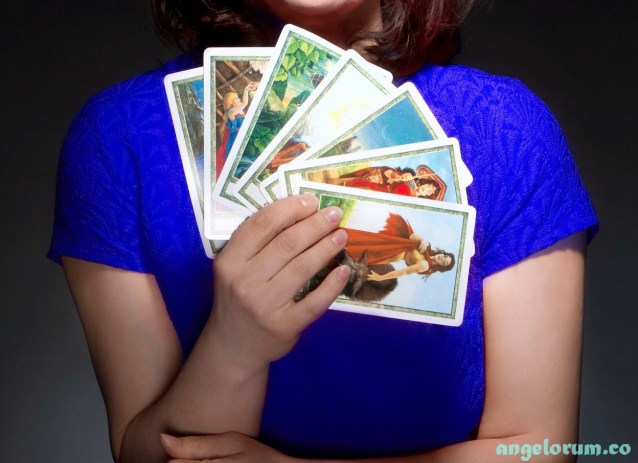 tarot reader close up of cards