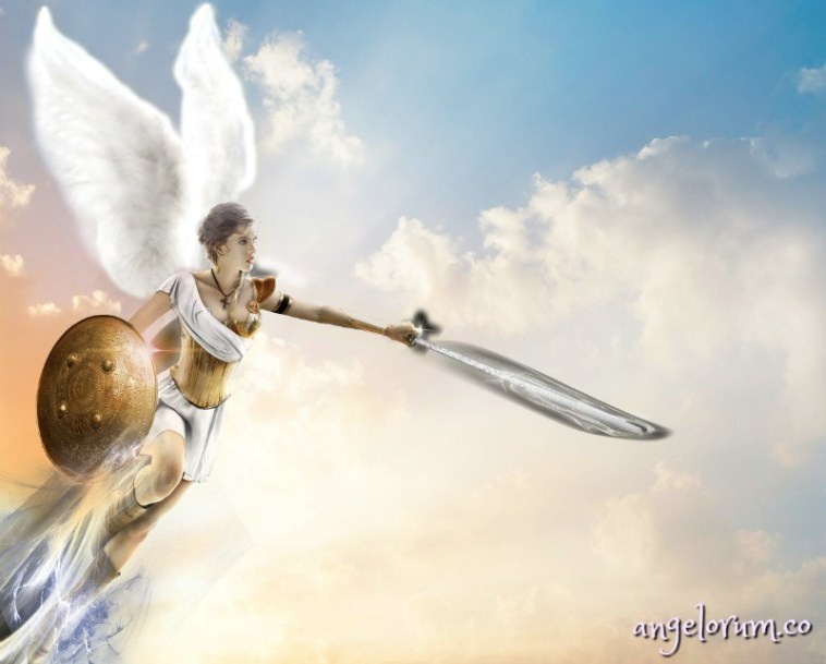 angel with sword