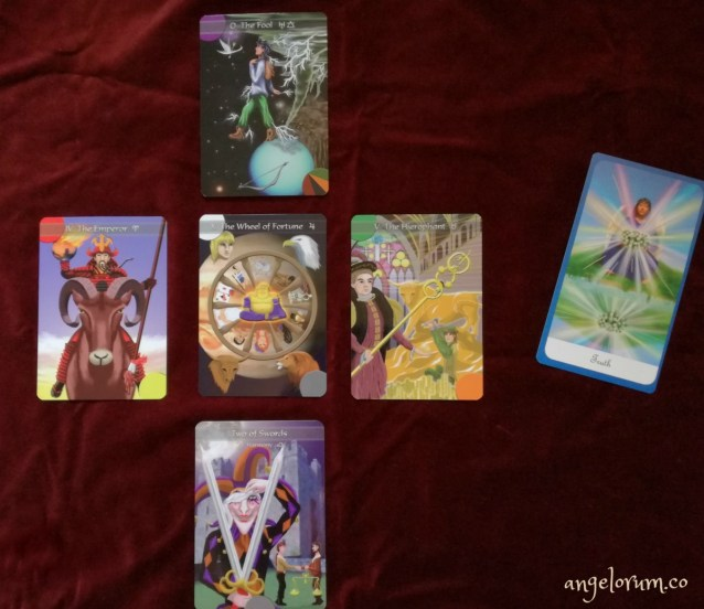 sample reading with the kingdom within tarot and the guardian angel oracle