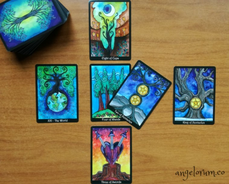 Tarot reading with the Tarot of Trees using the Archangel Jeremiel Life Lesson Integration Tarot Spread