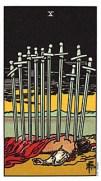 10 of swords tarot card