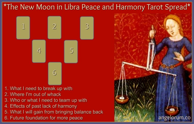 New Moon in Libra Tarot Spread for Peace and Harmony