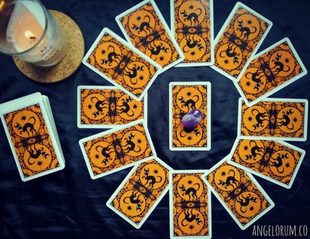 Samhain Year Ahead Power Crystal Tarot Reading - Halloween Tarot