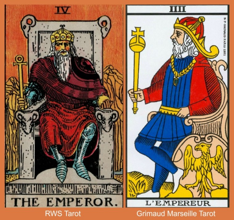 Emperor Collage RWS and Marseille Tarot