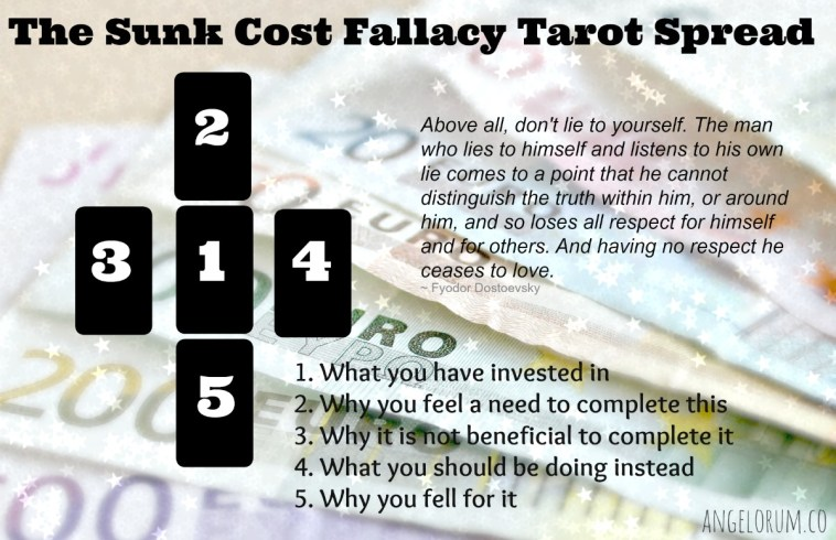 the sunk cost fallacy tarot spread