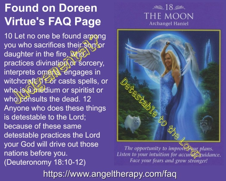 Doreen Virtue Advices Witches, Mediums and Tarot Readers are Detestable to the Lord