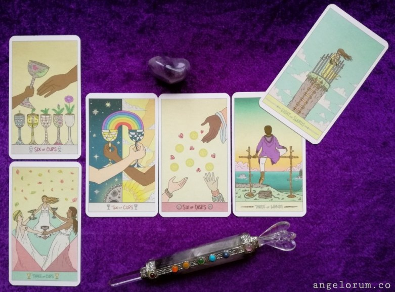 2018 New Moon in Scorpio Tarot Spread Sample Reading with the Luna Sol Tarot