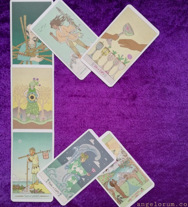 Perthro Rune Tarot Spread Sample Reading with Luna Sol Tarot