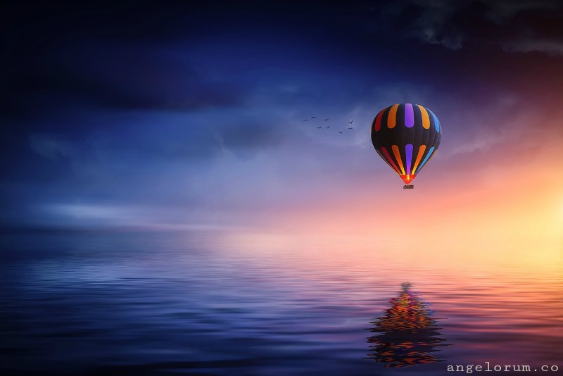 hot air balloon gemini full moon tarot spread