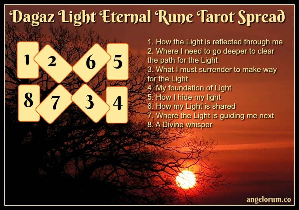 Dagaz Light Eternal Rune Tarot Spread
