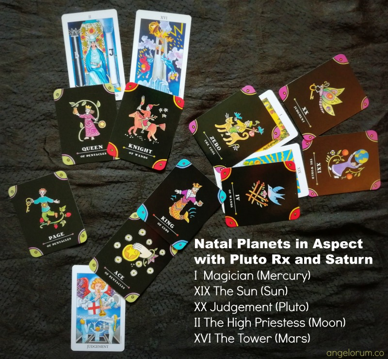 Pluto Rx Tarot Reading with the Complete Tarot Kit and the Pocket Radiant Rider Waite in a tine.