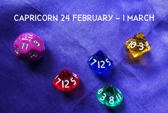 Week Ahead Dice Tarotscopes Capricorn 24 Feb
