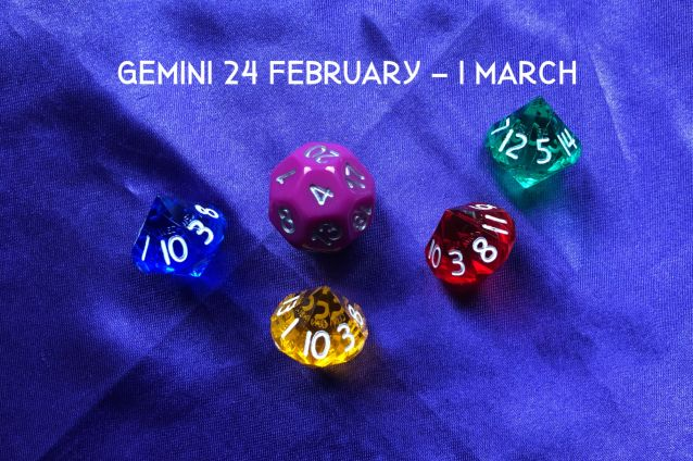 Week Ahead Dice Tarotscopes Gemini 24 Feb