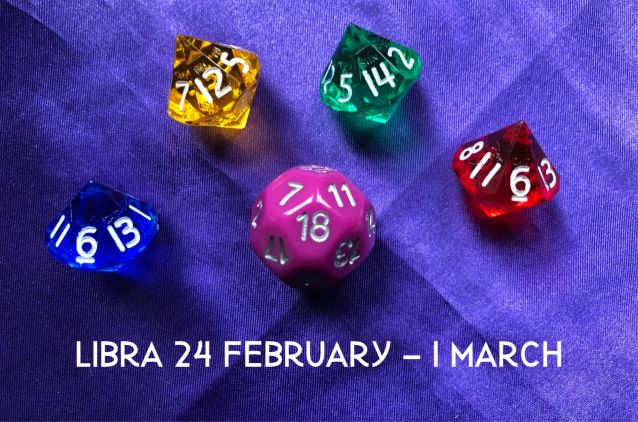 Week Ahead Dice Tarotscopes Libra 24 Feb