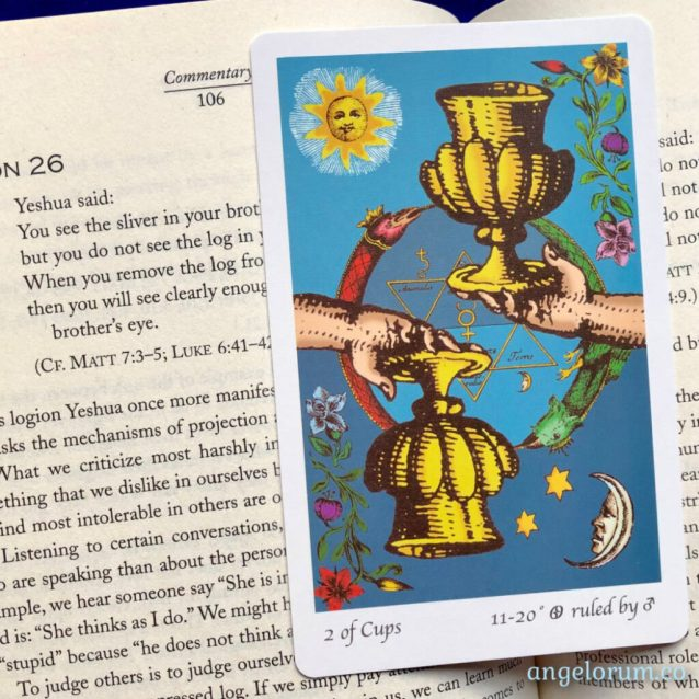 Gospel of Thomas and the 2 of Cups from the Tarot of the Holy Light