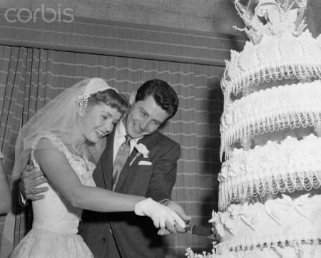 Eddie Fisher and Debbie Reynolds, 1955. da/from www.corbis.com