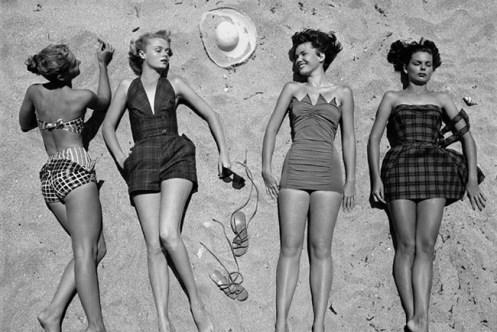 fifties swimwear outfit da/from www.corbis.com